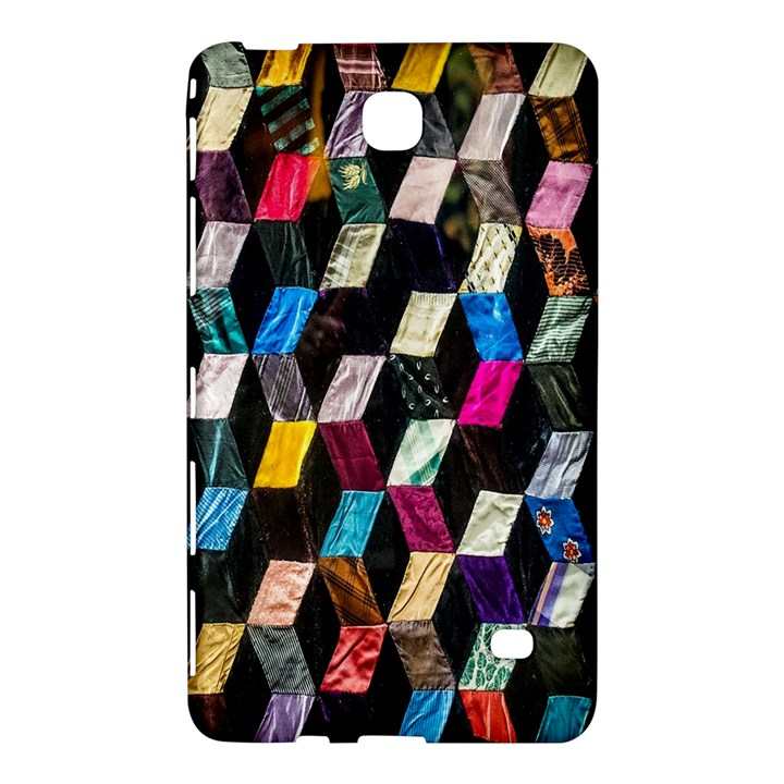 Abstract Multicolor Cubes 3d Quilt Fabric Samsung Galaxy Tab 4 (8 ) Hardshell Case