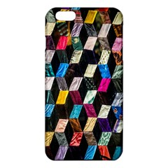 Abstract Multicolor Cubes 3d Quilt Fabric Iphone 6 Plus/6s Plus Tpu Case
