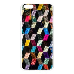 Abstract Multicolor Cubes 3d Quilt Fabric Apple Seamless iPhone 6 Plus/6S Plus Case (Transparent)