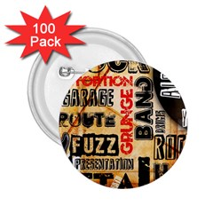 Guitar Typography 2.25  Buttons (100 pack)