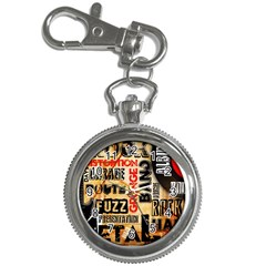 Guitar Typography Key Chain Watches