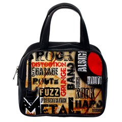 Guitar Typography Classic Handbags (One Side)
