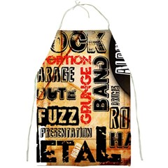 Guitar Typography Full Print Aprons