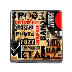 Guitar Typography Memory Card Reader (square)