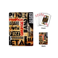 Guitar Typography Playing Cards (Mini)