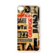 Guitar Typography Apple iPhone 4 Case (White)