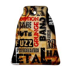 Guitar Typography Bell Ornament (Two Sides)