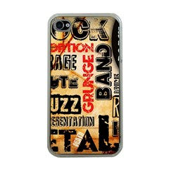 Guitar Typography Apple Iphone 4 Case (clear)