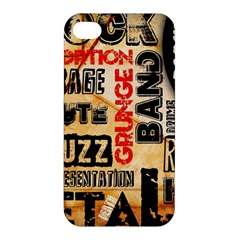 Guitar Typography Apple iPhone 4/4S Hardshell Case