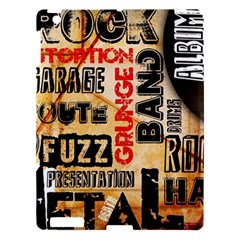 Guitar Typography Apple iPad 3/4 Hardshell Case