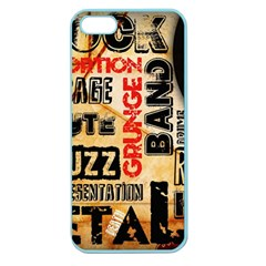 Guitar Typography Apple Seamless iPhone 5 Case (Color)