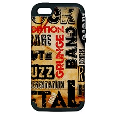 Guitar Typography Apple iPhone 5 Hardshell Case (PC+Silicone)