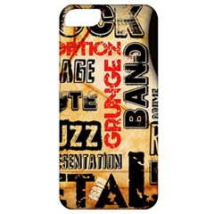 Guitar Typography Apple Iphone 5 Classic Hardshell Case