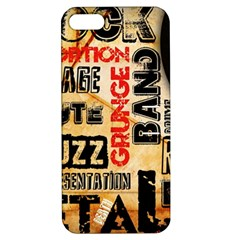Guitar Typography Apple Iphone 5 Hardshell Case With Stand