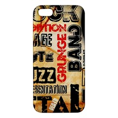 Guitar Typography Apple iPhone 5 Premium Hardshell Case