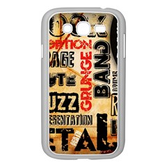 Guitar Typography Samsung Galaxy Grand DUOS I9082 Case (White)