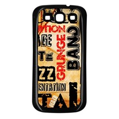 Guitar Typography Samsung Galaxy S3 Back Case (Black)