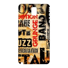 Guitar Typography Samsung Galaxy Note 3 N9005 Hardshell Back Case