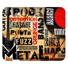 Guitar Typography Double Sided Flano Blanket (Small)