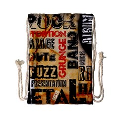 Guitar Typography Drawstring Bag (Small)