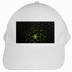 Green Android Honeycomb Gree White Cap