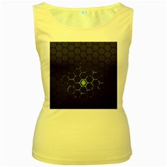 Green Android Honeycomb Gree Women s Yellow Tank Top
