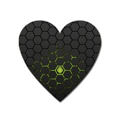 Green Android Honeycomb Gree Heart Magnet