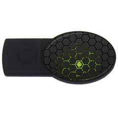 Green Android Honeycomb Gree USB Flash Drive Oval (4 GB)