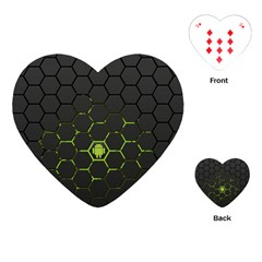 Green Android Honeycomb Gree Playing Cards (Heart)