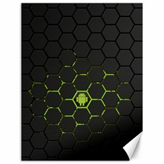 Green Android Honeycomb Gree Canvas 12  X 16