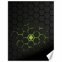 Green Android Honeycomb Gree Canvas 18  x 24