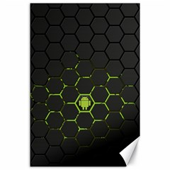 Green Android Honeycomb Gree Canvas 24  X 36