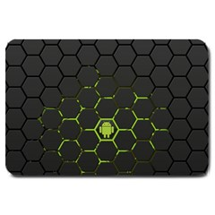 Green Android Honeycomb Gree Large Doormat