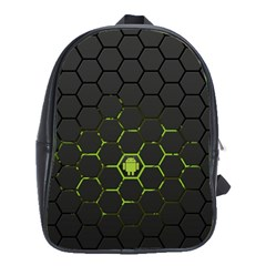 Green Android Honeycomb Gree School Bags(large)