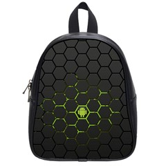 Green Android Honeycomb Gree School Bags (Small)