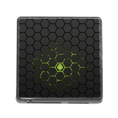 Green Android Honeycomb Gree Memory Card Reader (square)