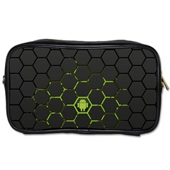 Green Android Honeycomb Gree Toiletries Bags