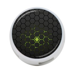 Green Android Honeycomb Gree 4-Port USB Hub (One Side)