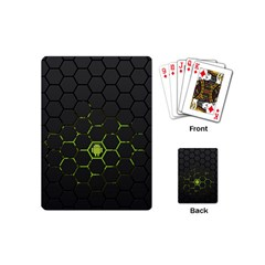 Green Android Honeycomb Gree Playing Cards (Mini)