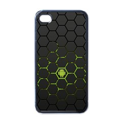 Green Android Honeycomb Gree Apple iPhone 4 Case (Black)