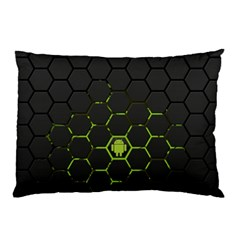 Green Android Honeycomb Gree Pillow Case (two Sides)