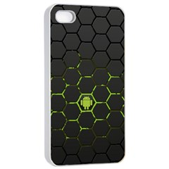 Green Android Honeycomb Gree Apple Iphone 4/4s Seamless Case (white)