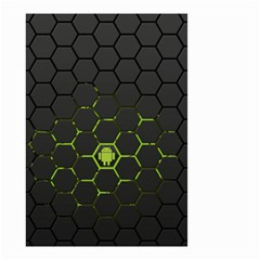 Green Android Honeycomb Gree Small Garden Flag (two Sides)