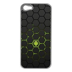 Green Android Honeycomb Gree Apple iPhone 5 Case (Silver)