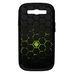 Green Android Honeycomb Gree Samsung Galaxy S III Hardshell Case (PC+Silicone)