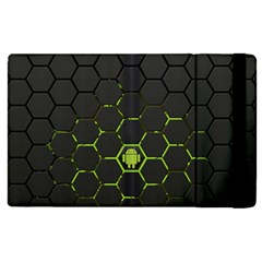 Green Android Honeycomb Gree Apple iPad 3/4 Flip Case