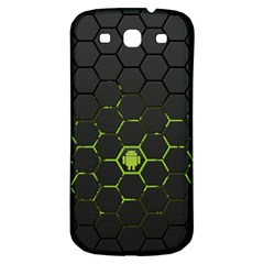Green Android Honeycomb Gree Samsung Galaxy S3 S Iii Classic Hardshell Back Case