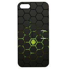 Green Android Honeycomb Gree Apple iPhone 5 Hardshell Case with Stand