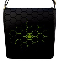 Green Android Honeycomb Gree Flap Messenger Bag (S)