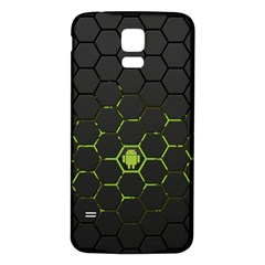 Green Android Honeycomb Gree Samsung Galaxy S5 Back Case (White)